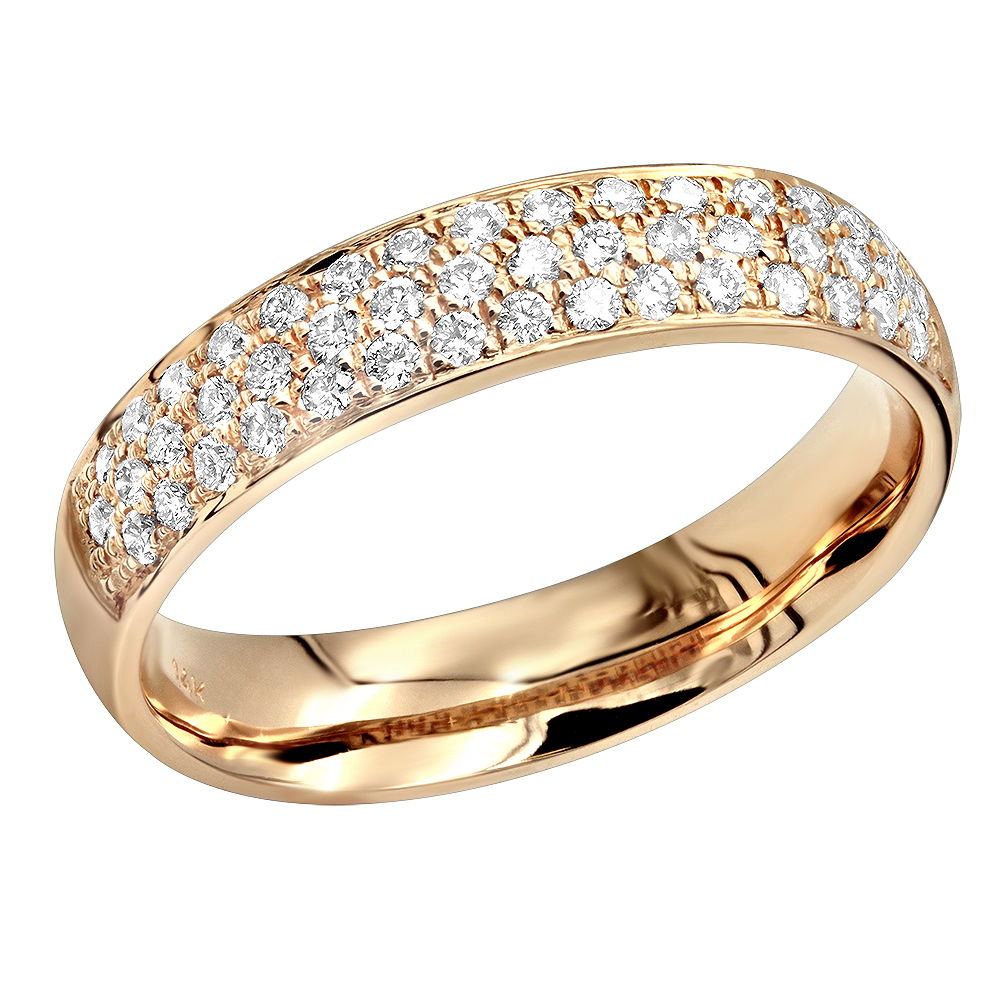 bands icing on pave the wedding set pav ring band