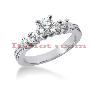 14K Gold Preset Diamond Engagement Ring 0.84ct Main Image