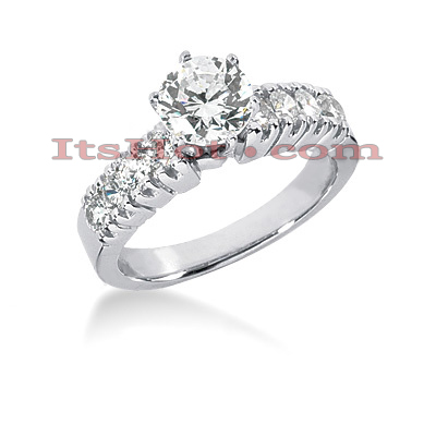 14K Gold Preset Diamond Engagement Ring 1.14ct Main Image