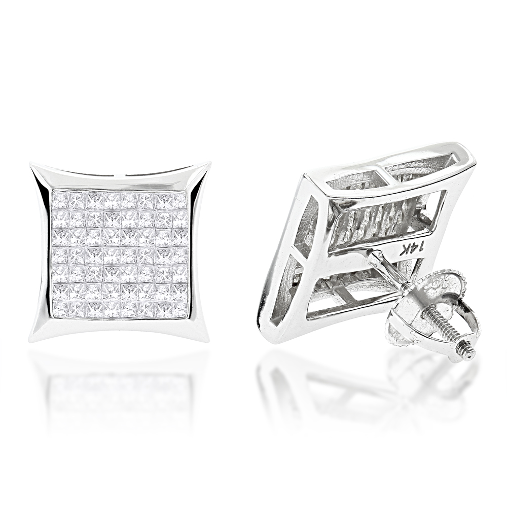 set diamond stud gold setting invisible beautiful products j white earrings
