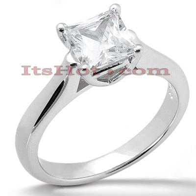 14K Gold Princess Diamond Solitaire Engagement Ring 0.30ct