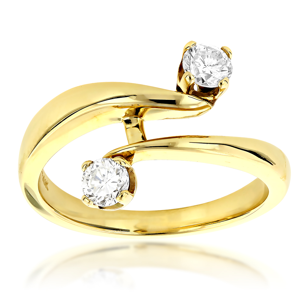 14K Gold Right Hand Ladies Diamond Ring 0.50ct Yellow Image