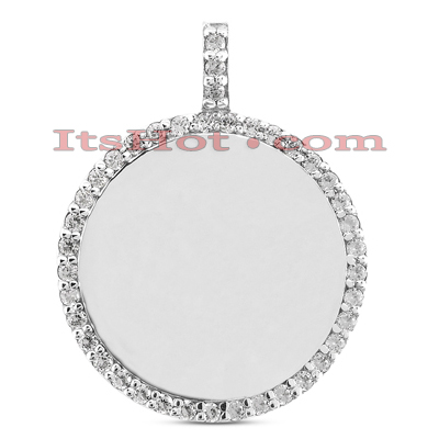 14k Gold Round Diamond Circle Pendant 0.40ct Main Image