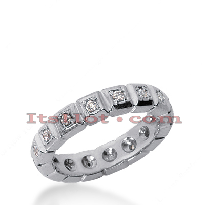 14K Gold Round Diamond Eternity Band 0.32ct Main Image