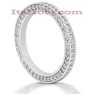 Thin 14K Gold Round Diamond Eternity Band for Women 3/4ct