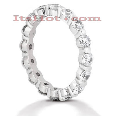 Thin 14K Gold Round Diamond Eternity Band 2.40ct Main Image