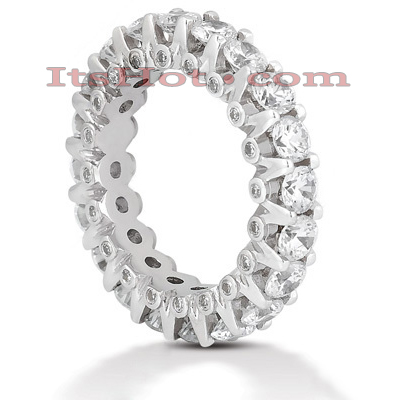14K Gold Round Diamond Eternity Band 3.20ct Main Image