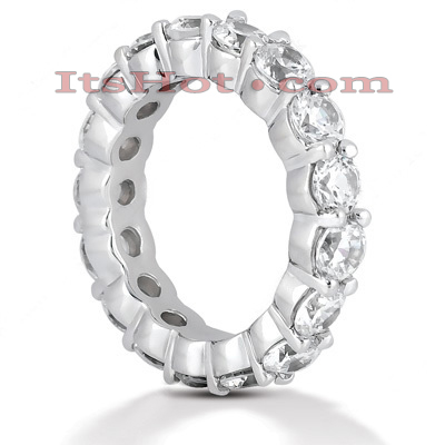 14K Gold Round Diamond Eternity Band 3.40ct Main Image