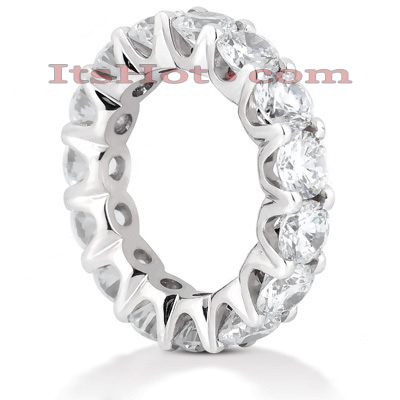 14K Gold Round Diamond Eternity Band 6.75ct Main Image
