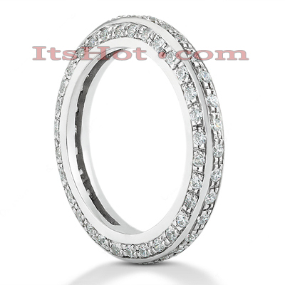 Thin 14K Gold Round Diamond Eternity Ring 1.01ct Main Image