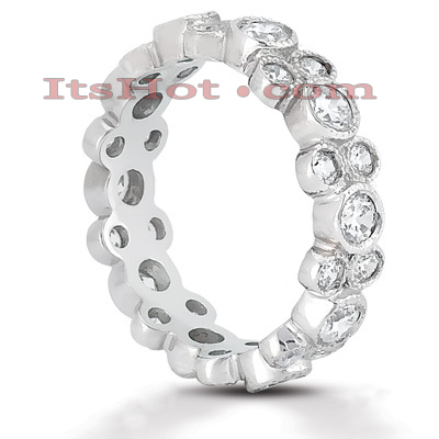 14K Gold Round Diamond Eternity Ring 1.44ct Main Image