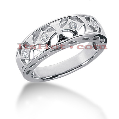 14K Gold Round Diamond Ladies Ring 0.10ct Main Image