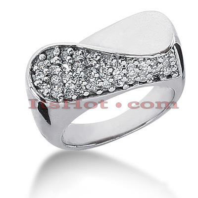 14K Gold Round Diamond Ladies Ring 0.55ct Main Image