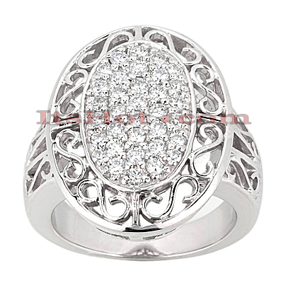 14K Gold Round Diamond Ladies Ring 0.60ct Main Image