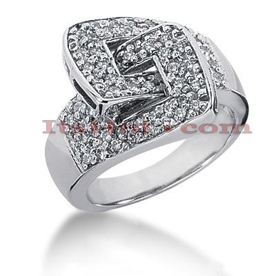 14K Gold Round Diamond Ladies Ring 0.64ct Main Image