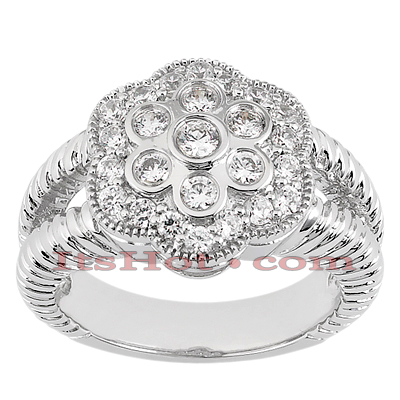 14K Gold Round Diamond Ladies Ring 0.67ct Main Image