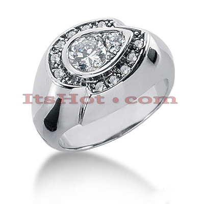14K Gold Round Diamond Ladies Ring 0.68ct Main Image