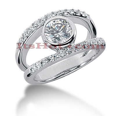 14K Gold Round Diamond Ladies Ring 0.77ct Main Image