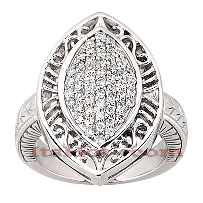 14K Gold Round Diamond Ladies Ring 0.79ct Main Image