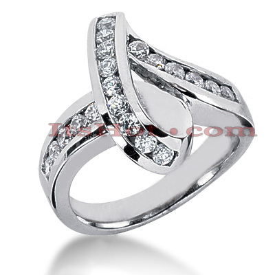 14K Gold Round Diamond Ladies Ring 0.80ct Main Image