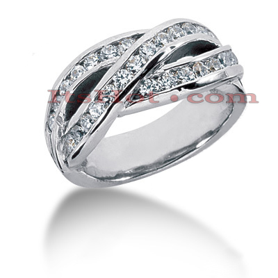 14K Gold Round Diamond Ladies Ring 0.81ct Main Image