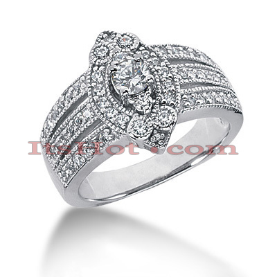 14K Gold Round Diamond Ladies Ring 0.82ct Main Image