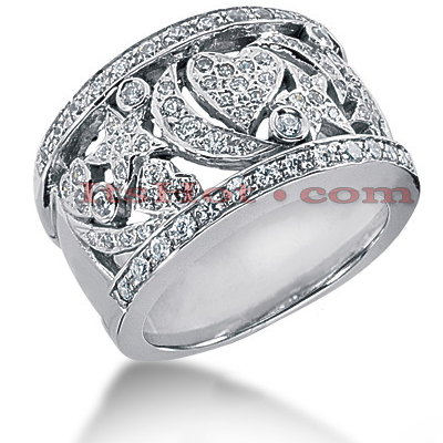14K Gold Round Diamond Ladies Ring 0.83ct Main Image