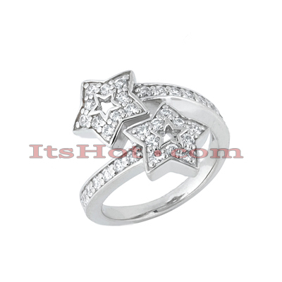 Thin 14K Gold Round Diamond Ladies Ring 0.85ct Main Image