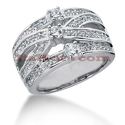 14K Gold Round Diamond Ladies Ring 0.88ct Main Image