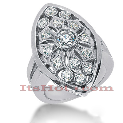 14K Gold Round Diamond Ladies Ring 1.05ct Main Image