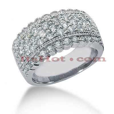 14K Gold Round Diamond Ladies Ring 1.23ct Main Image