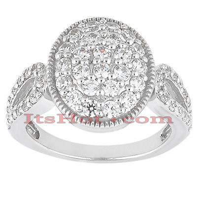 14K Gold Round Diamond Ladies Ring 1.65ct Main Image