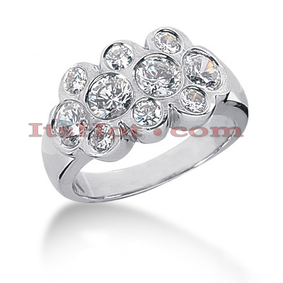 14K Gold Round Diamond Ladies Ring 1.88ct Main Image