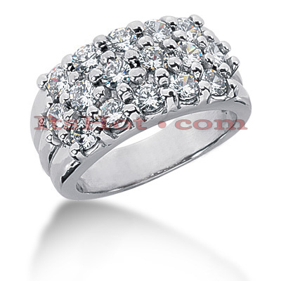 14K Gold Round Diamond Ladies Ring 1.92ct Main Image