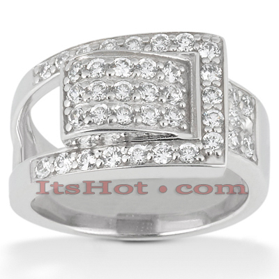 14K Gold Round Diamond Ladies Ring 1ct Main Image