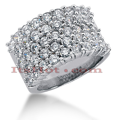 14K Gold Round Diamond Ladies Ring 2.58ct Main Image