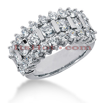14K Gold Round Diamond Ladies Ring 3.07ct Main Image