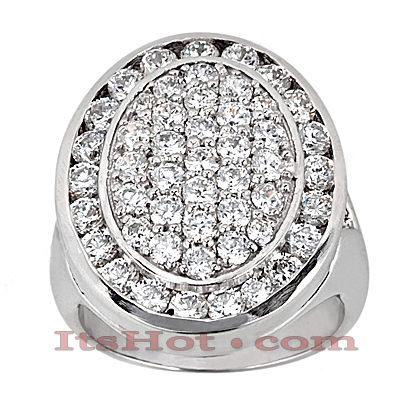 14K Gold Round Diamond Ladies Ring 3.08ct Main Image