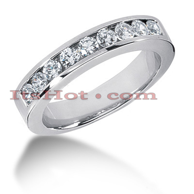 14K Gold Round Diamond Men's Wedding Ring 0.45ct Main Image