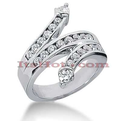 14K Gold Round Diamond Right Hand Ring 0.90ct Main Image