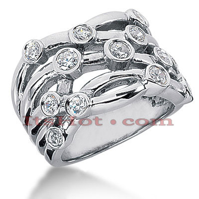 14K Gold Round Diamond Right Hand Ring 1ct Main Image