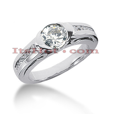 14K Gold Round Diamond Ring 1.22ct Main Image