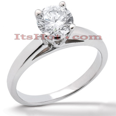 14K Gold Round Diamond Solitaire Engagement Ring 0.40ct Main Image
