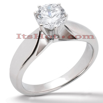 14K Gold Six-Prong Solitaire Engagement Ring 0.40ct Main Image