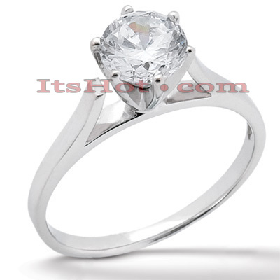 14K Gold Six-Prong Solitaire Engagement Ring 0.40ct 2.04mm Main Image