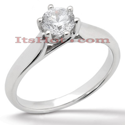 14K Gold Six-Prong Solitaire Engagement Ring 0.50ct Main Image