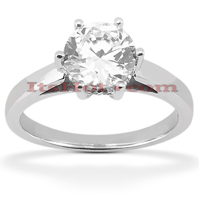 14K Gold Six-Prong Solitaire Engagement Ring 0.54ct Main Image