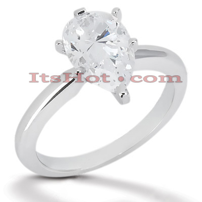 14K Gold Six-Prong Solitaire Engagement Ring 0.75ct Main Image