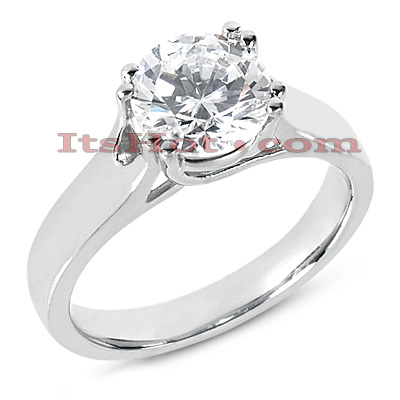 14K Gold Solitaire Engagement Ring 0.25ct Main Image
