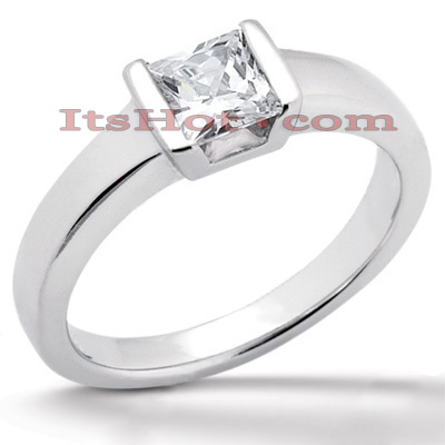 14K Gold Solitaire Engagement Ring 0.30ct 2.50mm Main Image